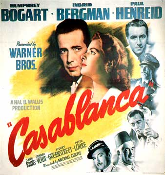 The Greatest films of all time:  29. Casablanca (1942)(USA)