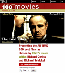 Time magazine best films